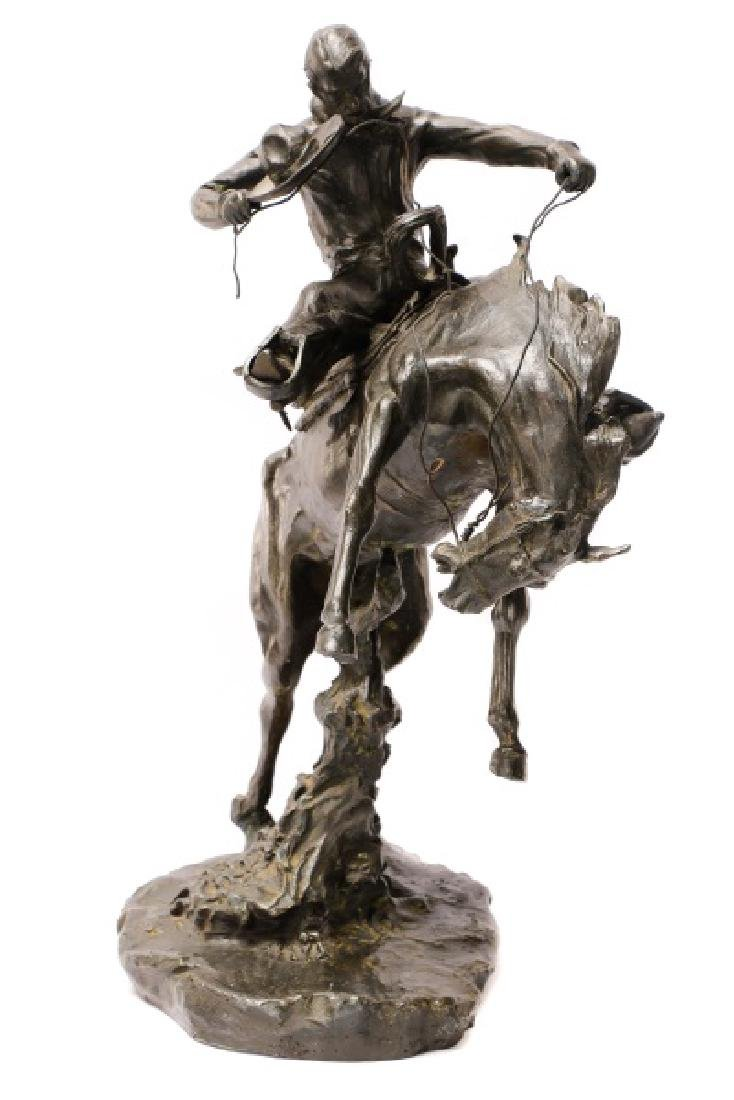 "After C.M. Russell ""Bronco Twister"" Bronze - 9"
