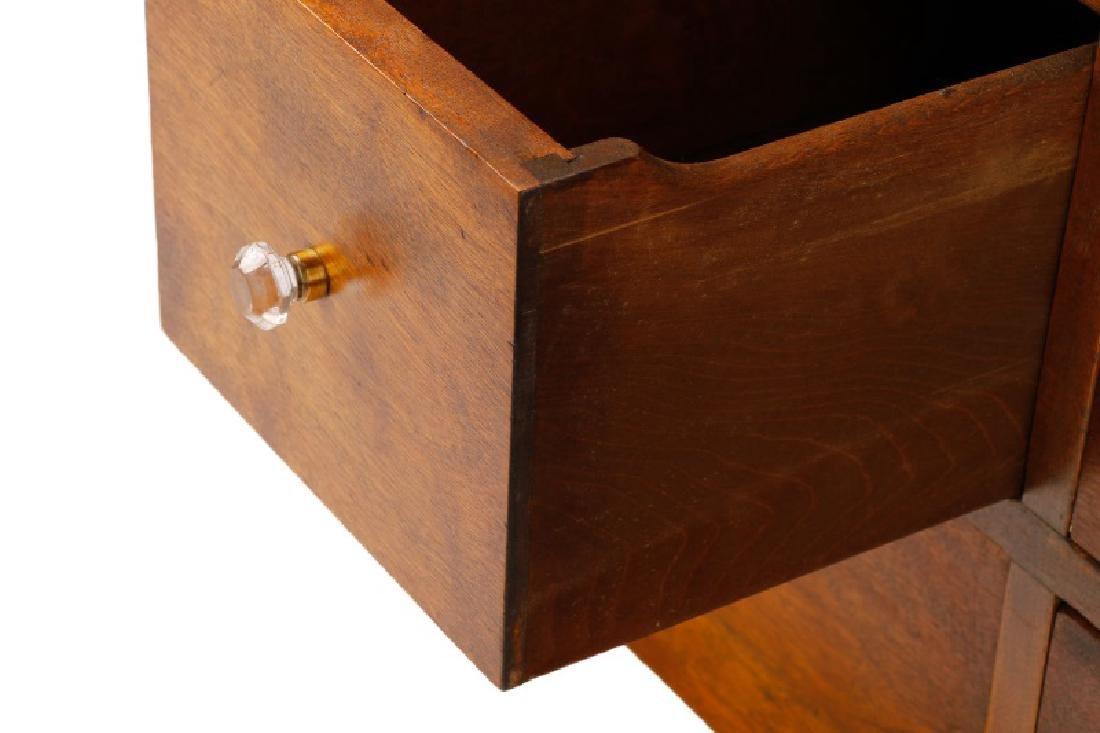 Twenty-Two Drawer Oak Stained Dental Cabinet - 10