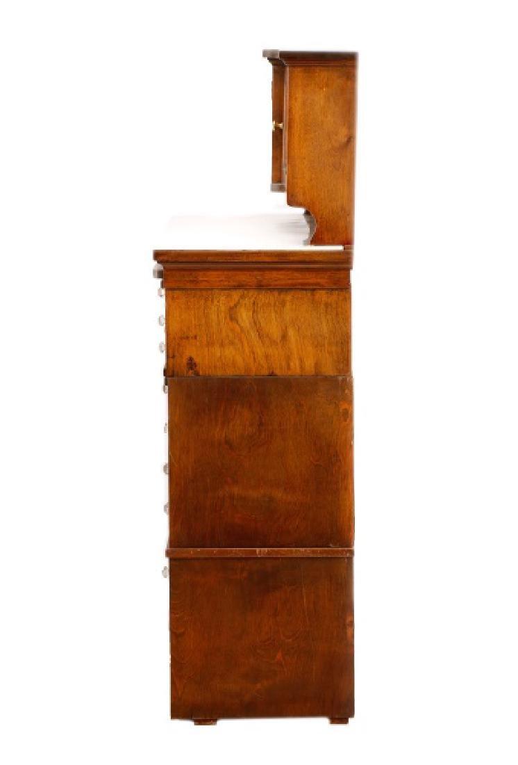Twenty-Two Drawer Oak Stained Dental Cabinet - 2