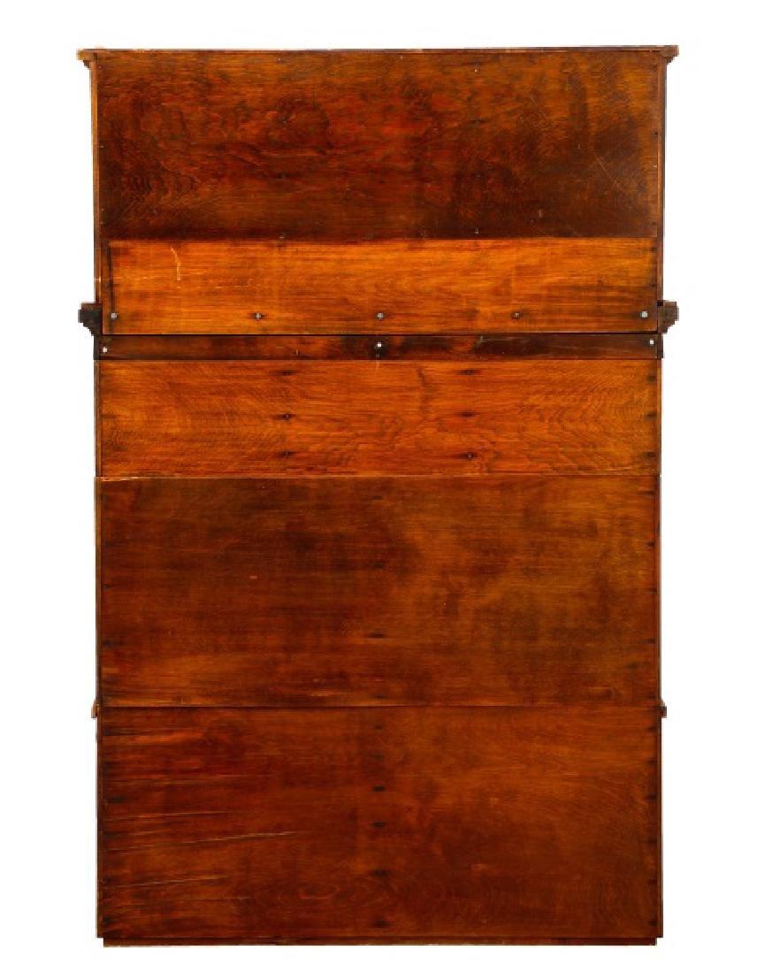 Twenty-Two Drawer Oak Stained Dental Cabinet - 3