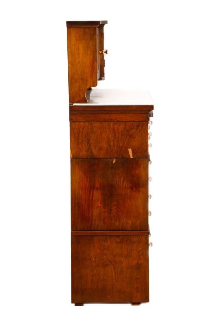 Twenty-Two Drawer Oak Stained Dental Cabinet - 4