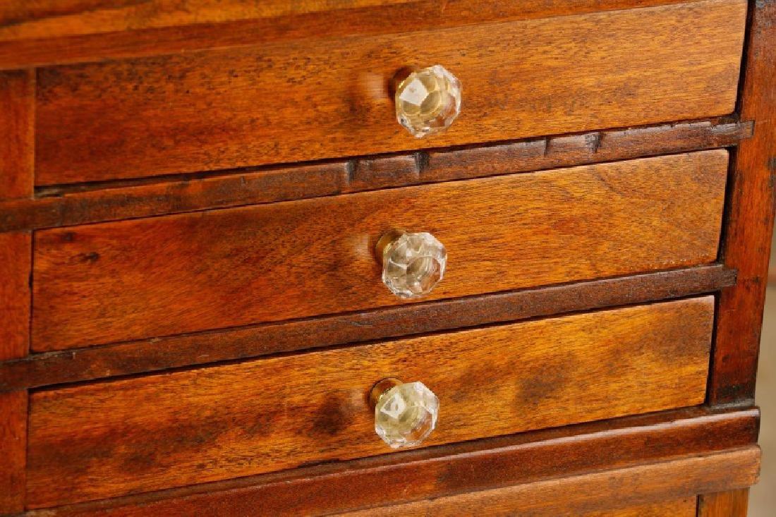 Twenty-Two Drawer Oak Stained Dental Cabinet - 5