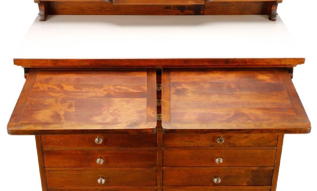 Twenty-Two Drawer Oak Stained Dental Cabinet - 7