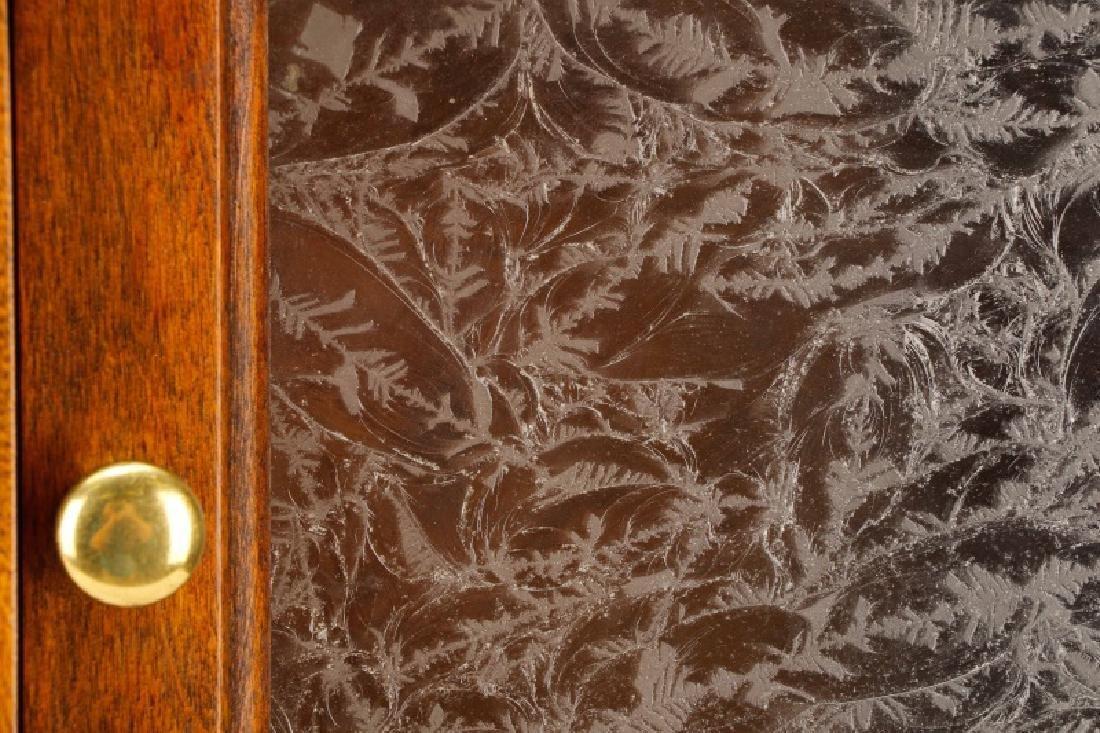 Twenty-Two Drawer Oak Stained Dental Cabinet - 8