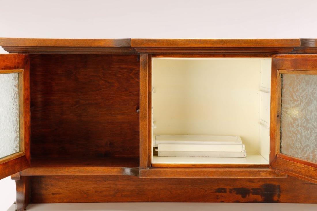 Twenty-Two Drawer Oak Stained Dental Cabinet - 9