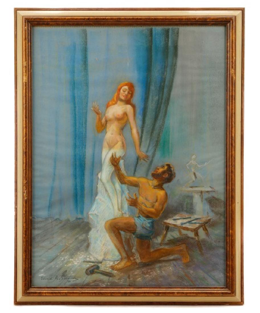 "Edward M. Stevenson, ""Pygmalion & Galatea,"" Pastel"