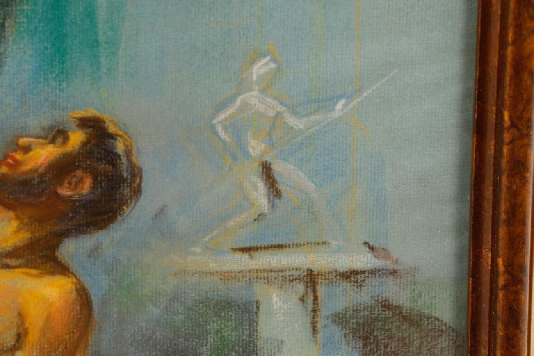 "Edward M. Stevenson, ""Pygmalion & Galatea,"" Pastel - 6"