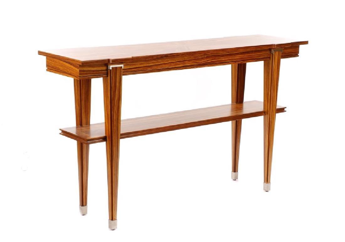 "William Switzer ""Elysee"" Zebrawood Console Table"