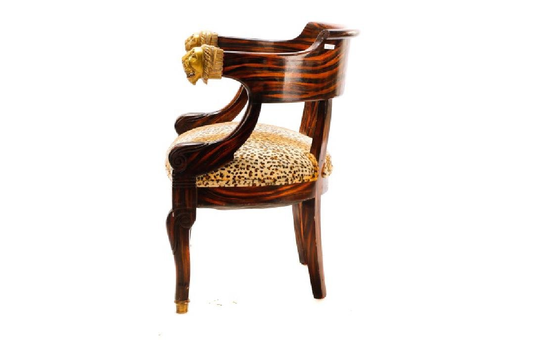 English Regency Calamander Lion's Head Chair - 10
