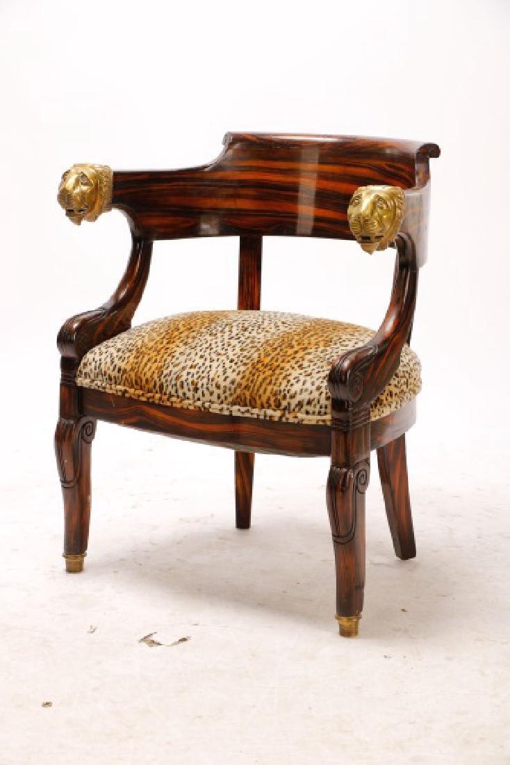 English Regency Calamander Lion's Head Chair - 2