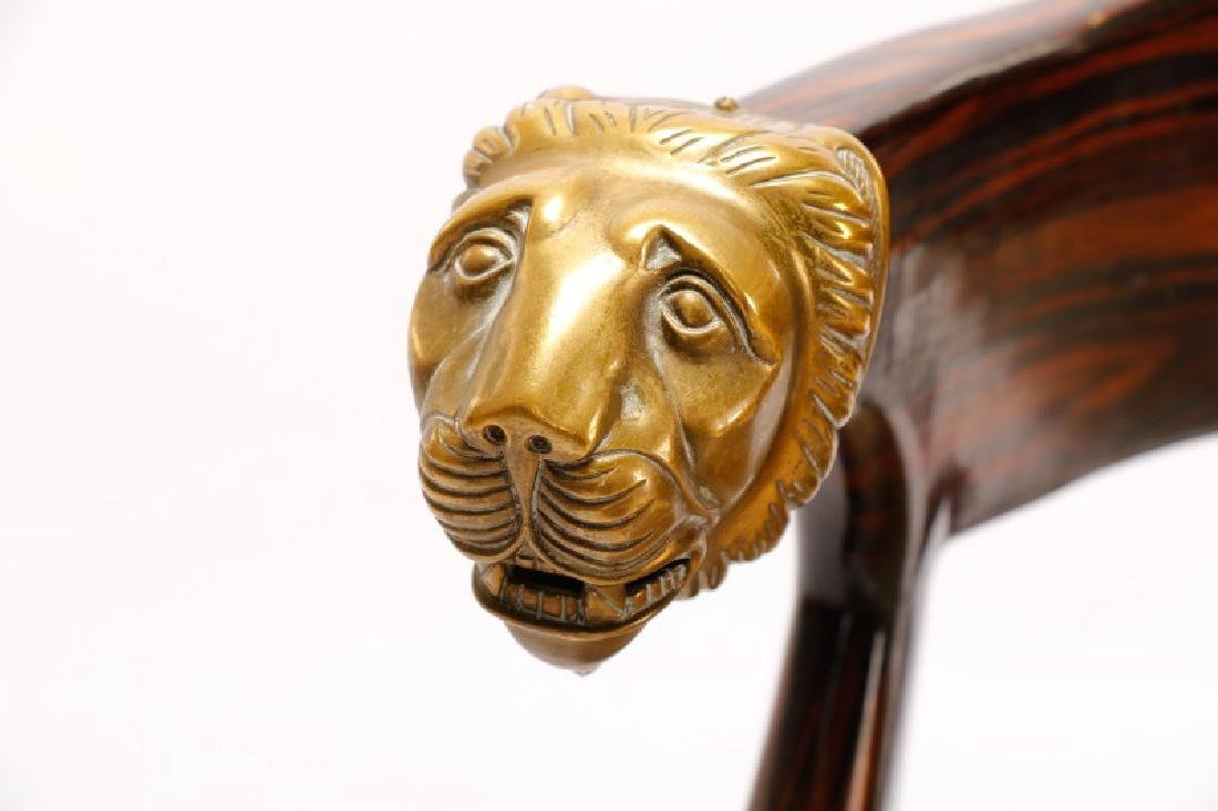 English Regency Calamander Lion's Head Chair - 3