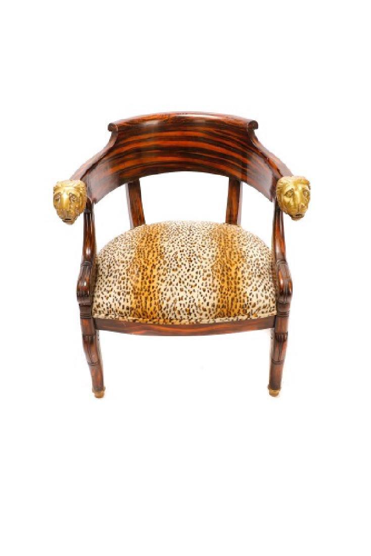 English Regency Calamander Lion's Head Chair - 5