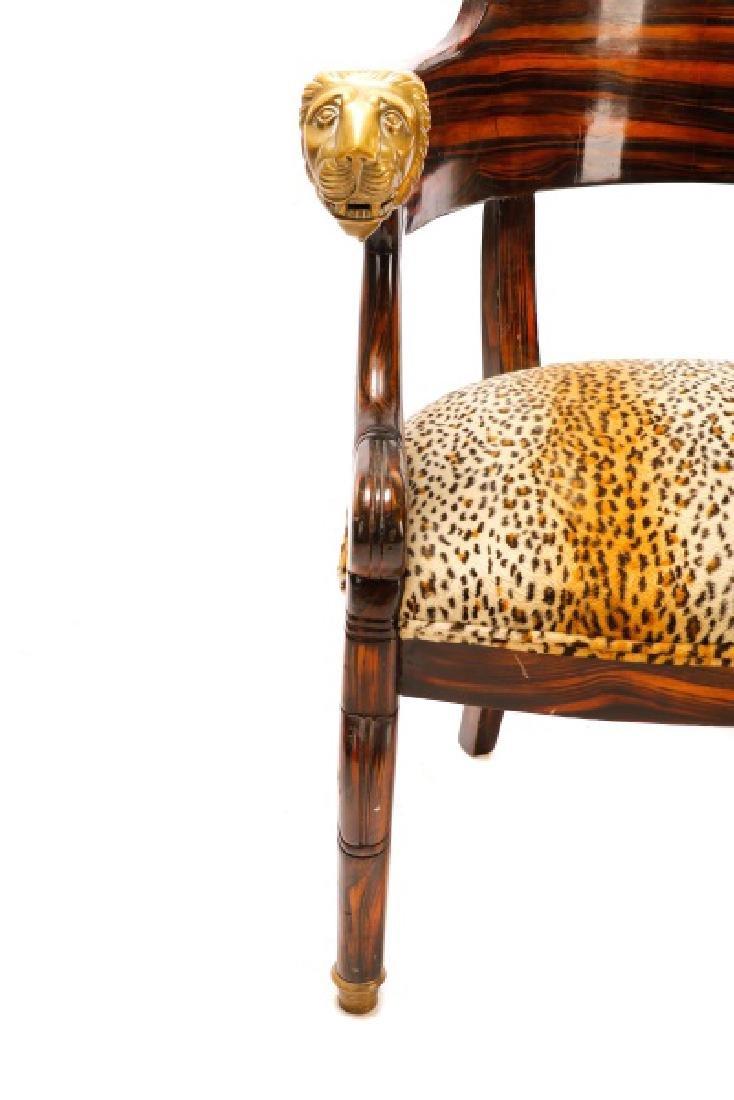 English Regency Calamander Lion's Head Chair - 6