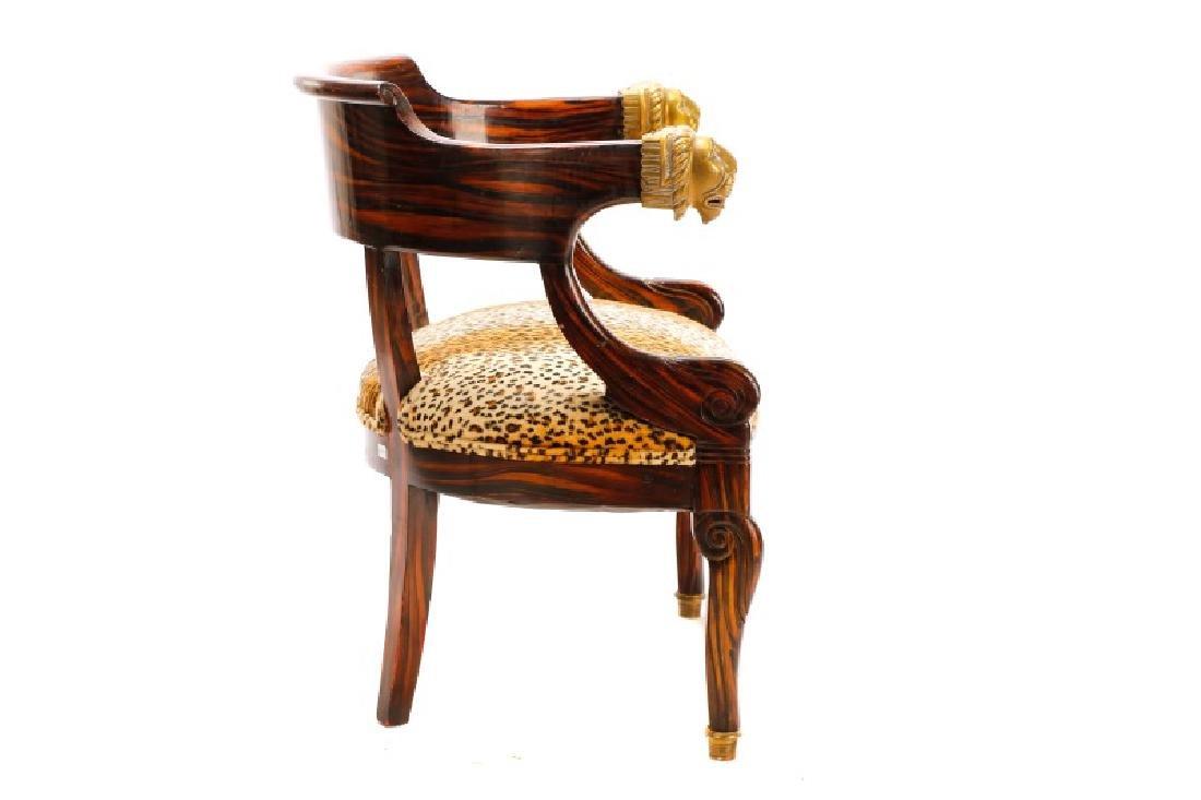 English Regency Calamander Lion's Head Chair - 8