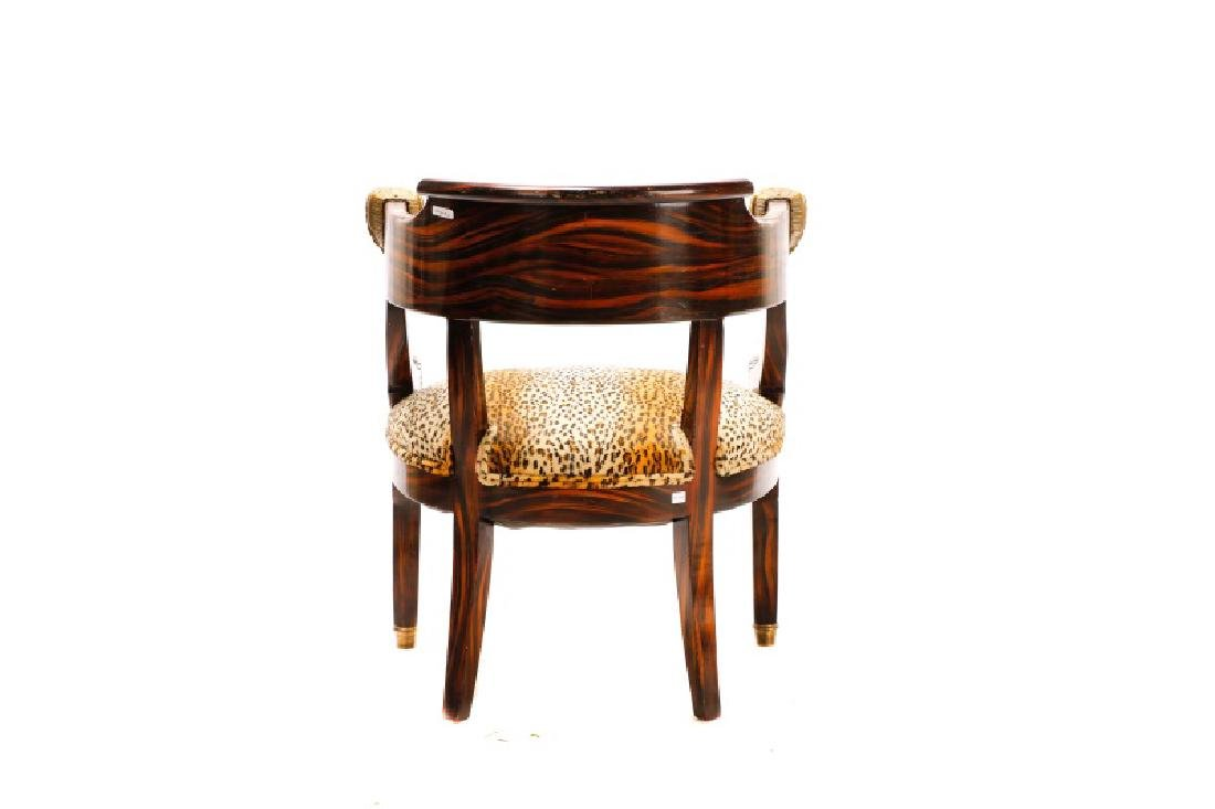 English Regency Calamander Lion's Head Chair - 9