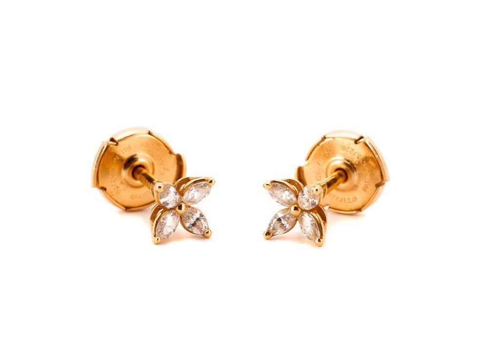 Pair of Tiffany Diamond Earrings