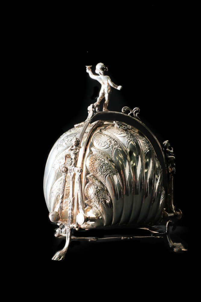 Fine Italian Sterling Figural Biscuit Box - 2