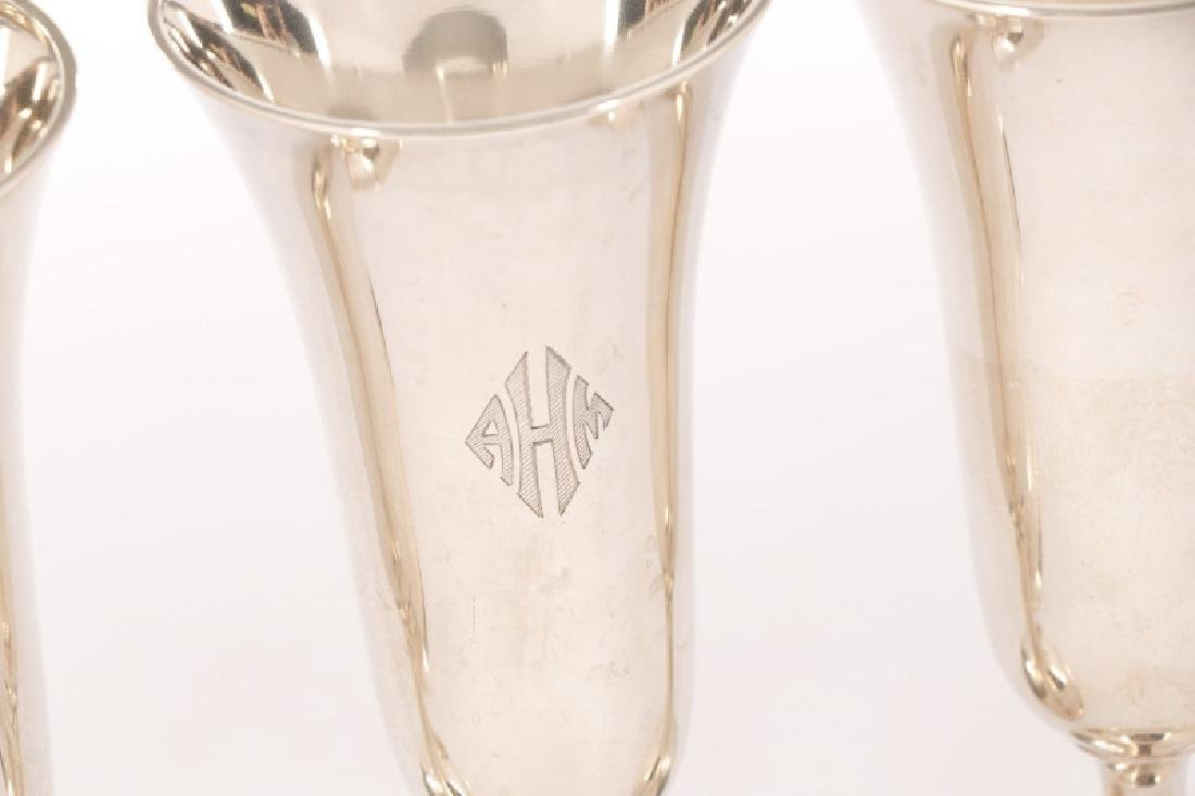 Set of 14 Whiting Sterling Champagne Flutes - 2