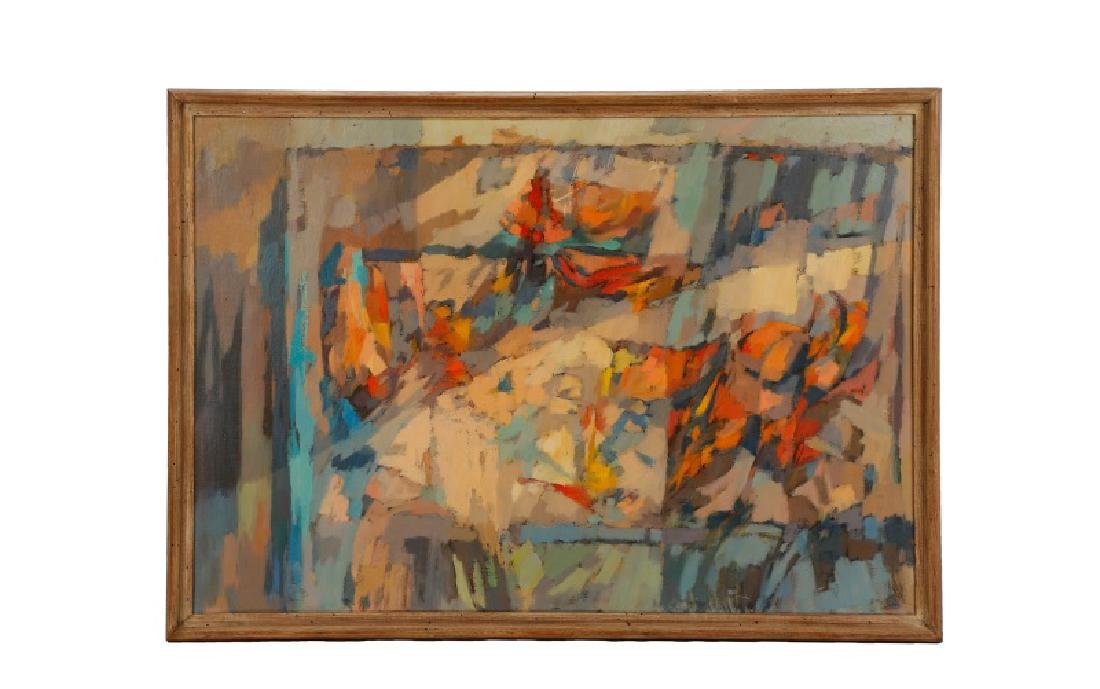 """George Cress, """"Untitled Abstraction"""", O/C"""
