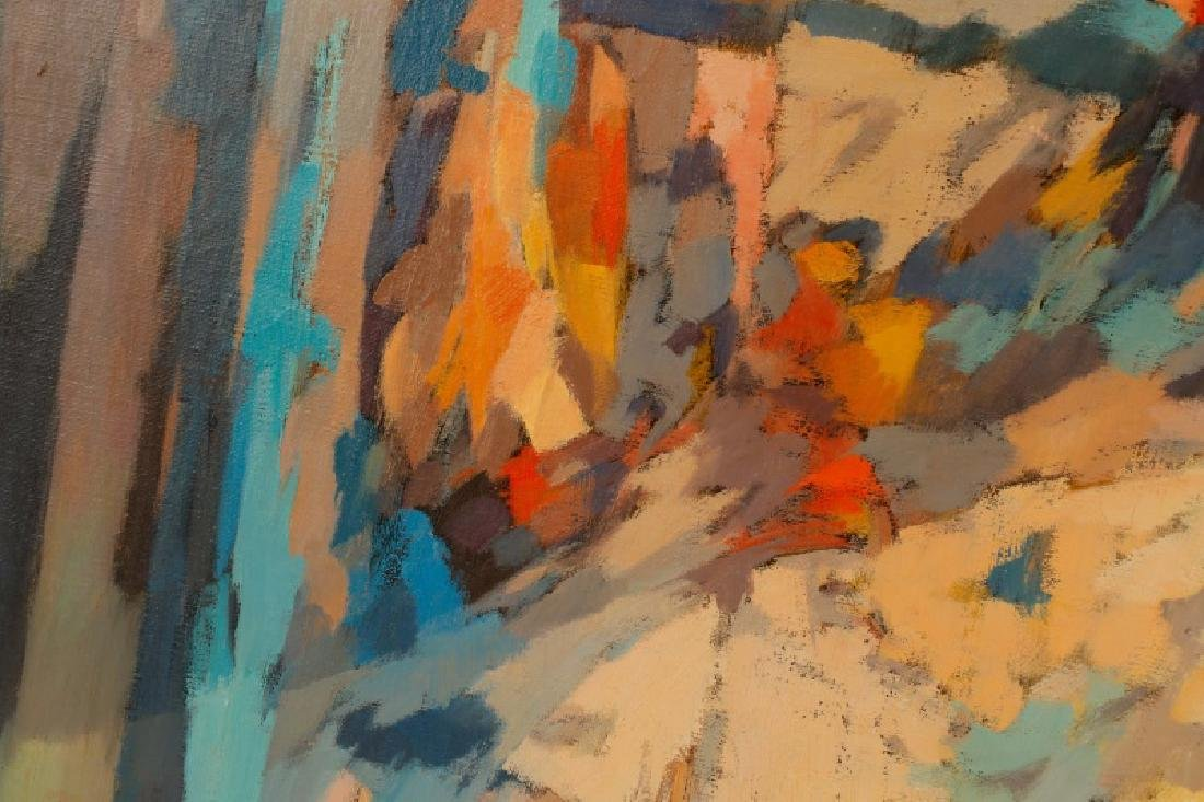 """George Cress, """"Untitled Abstraction"""", O/C - 2"""