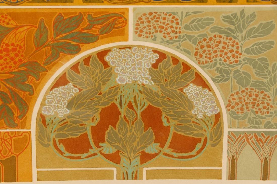 Four Art Nouveau Eugene A. Seguy Pochoir Prints - 3