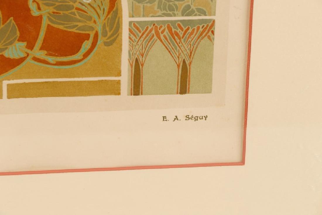 Four Art Nouveau Eugene A. Seguy Pochoir Prints - 5