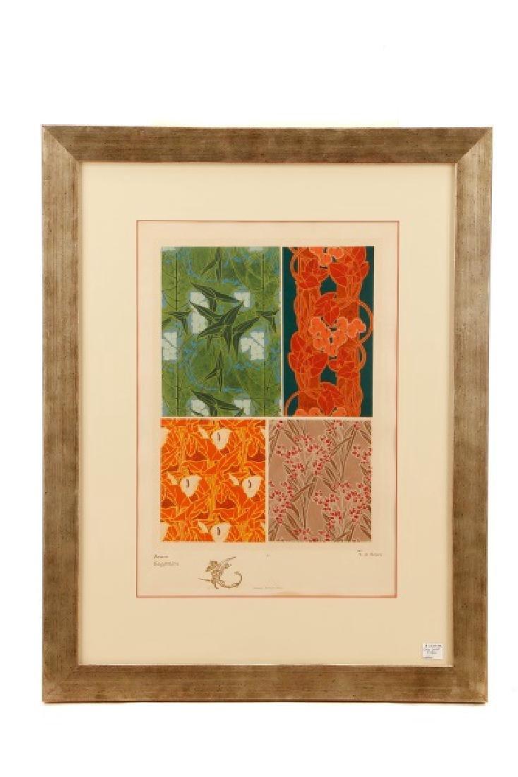 Four Art Nouveau Eugene A. Seguy Pochoir Prints - 7