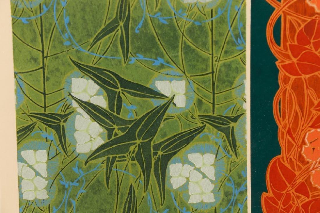 Four Art Nouveau Eugene A. Seguy Pochoir Prints - 8