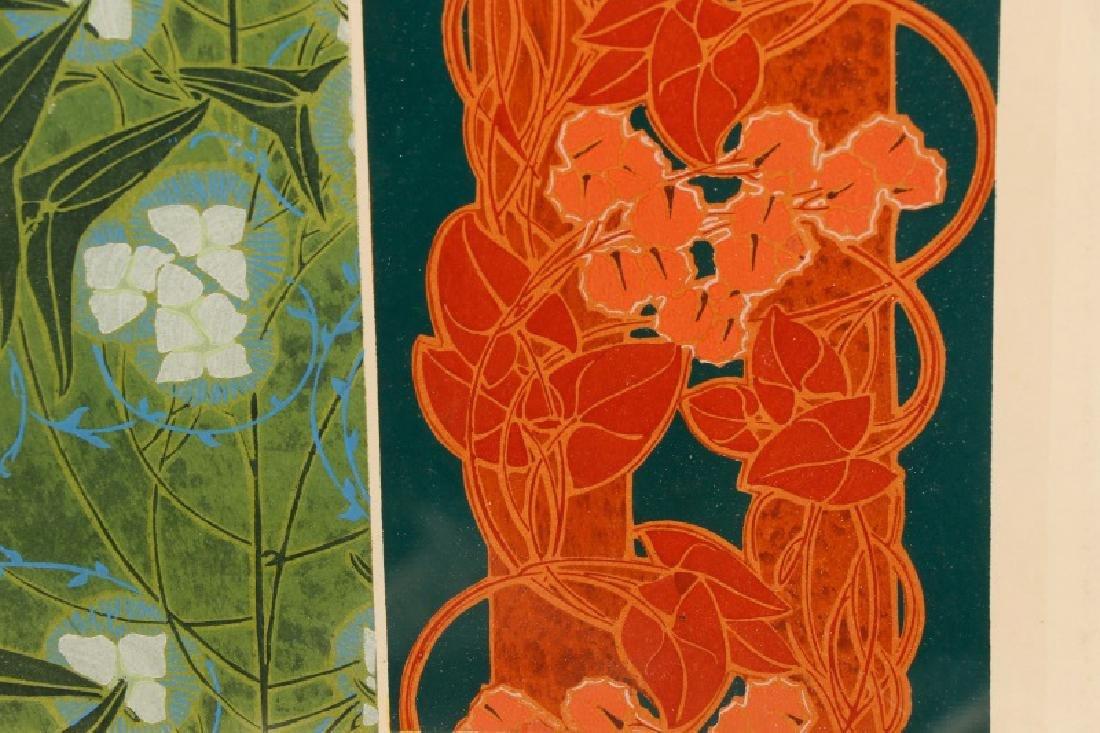 Four Art Nouveau Eugene A. Seguy Pochoir Prints - 9
