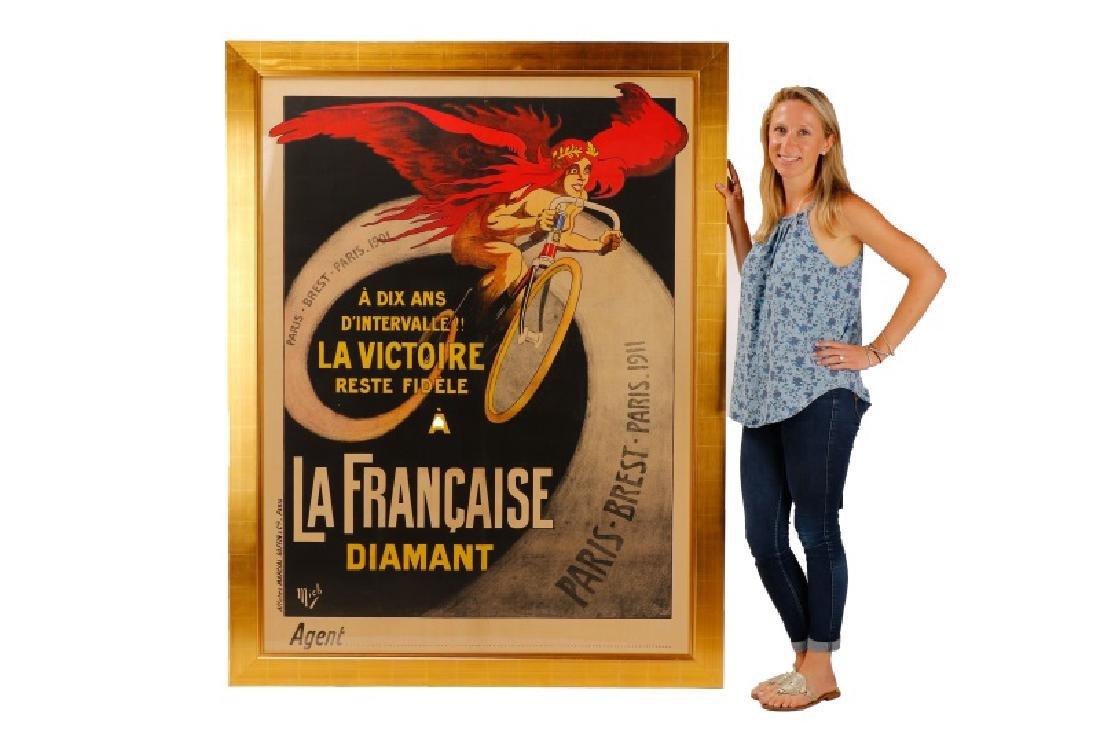 Vintage Paris-Brest-Paris Cycling Race Poster 1911