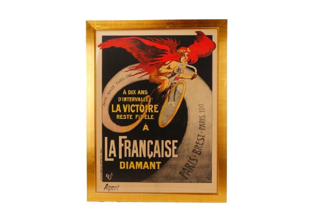 Vintage Paris-Brest-Paris Cycling Race Poster 1911 - 2