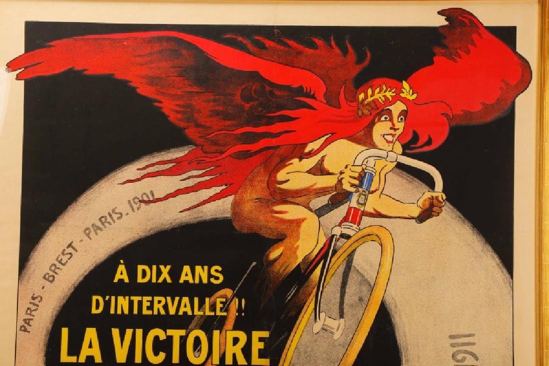 Vintage Paris-Brest-Paris Cycling Race Poster 1911 - 3