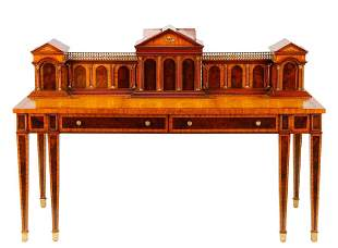Maitland-Smith Mahogany Roman Architectural Desk