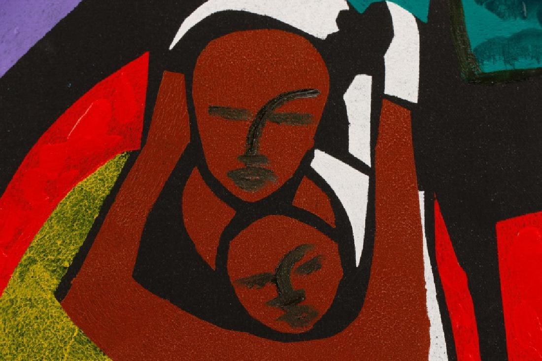 "William Tolliver, ""Madonna & Child"", Monotype - 2"