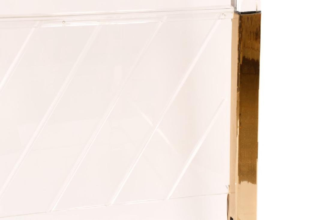 Style of Charles Hollis Jones Lucite Queen Bed - 3