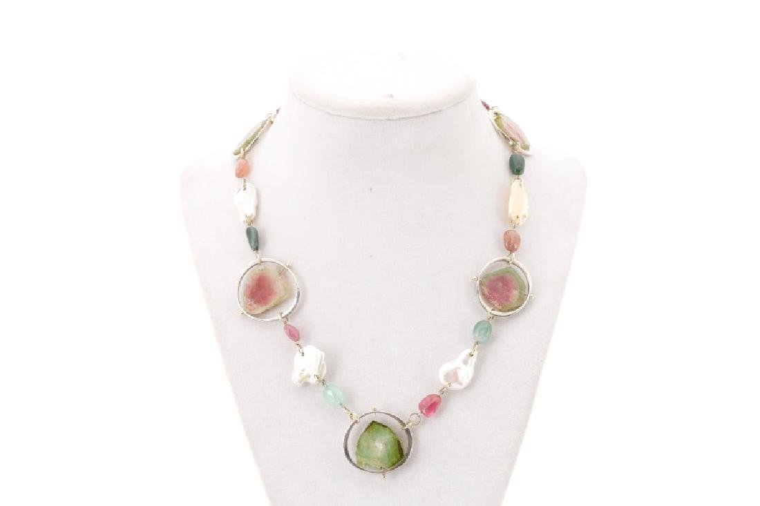 Lainey Papageorge Watermelon Tourmaline Necklace