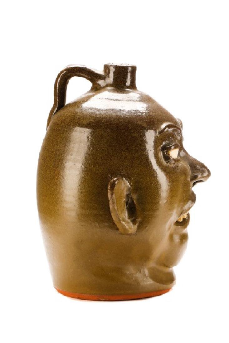 Lanier Meaders Face Jug, Six Teeth, Signed - 4