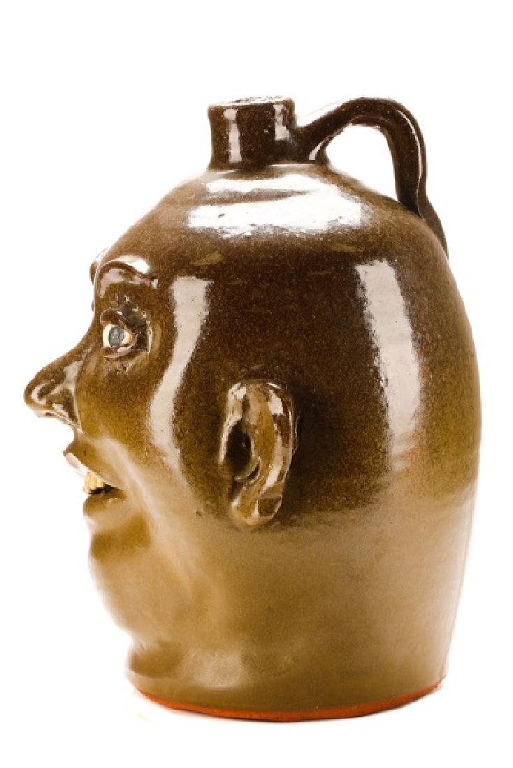 Lanier Meaders Face Jug, Six Teeth, Signed - 6