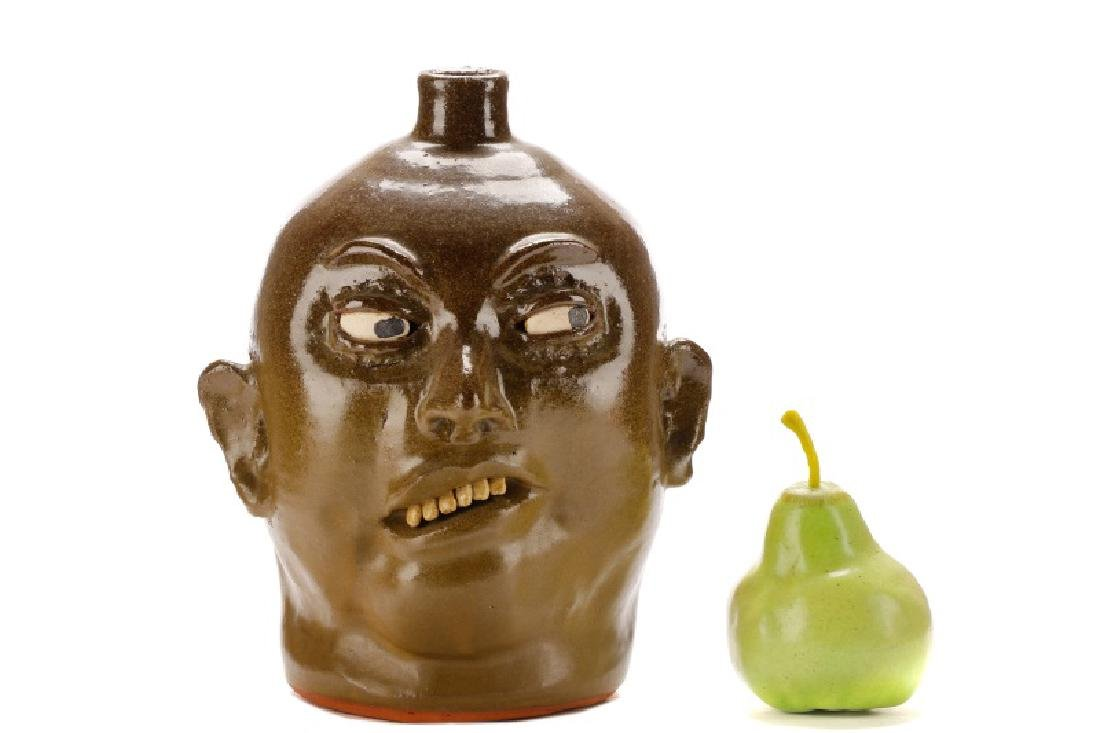 Lanier Meaders Face Jug, Six Teeth, Signed - 8