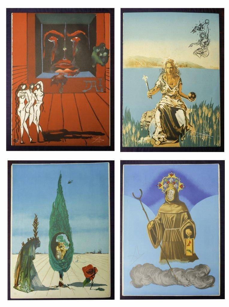 "Salvador Dali ""Visions Surrealiste"" 1976 Portfolio"