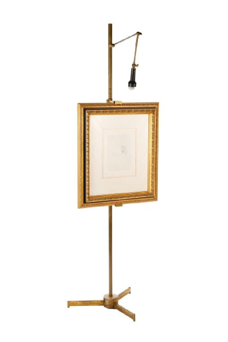 Angelo Lelli for Arredoluce Brass Easel Lamp