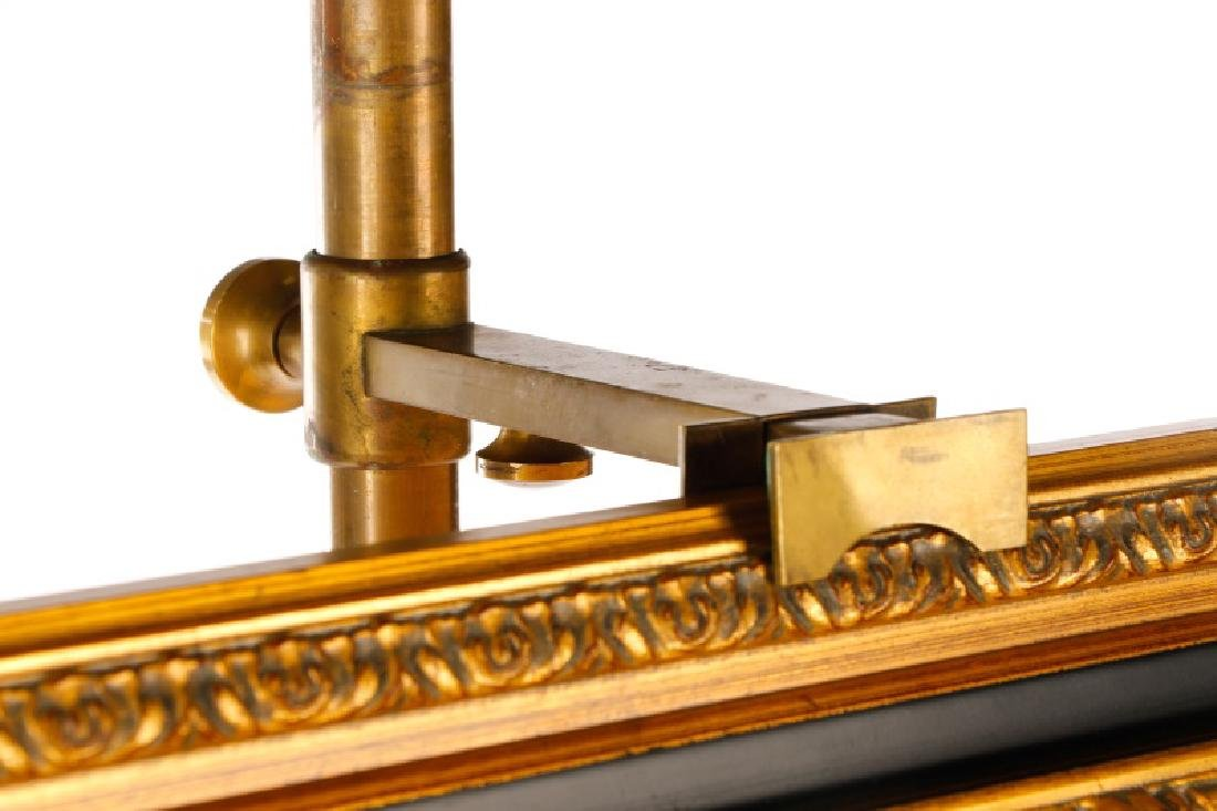 Angelo Lelli for Arredoluce Brass Easel Lamp - 3