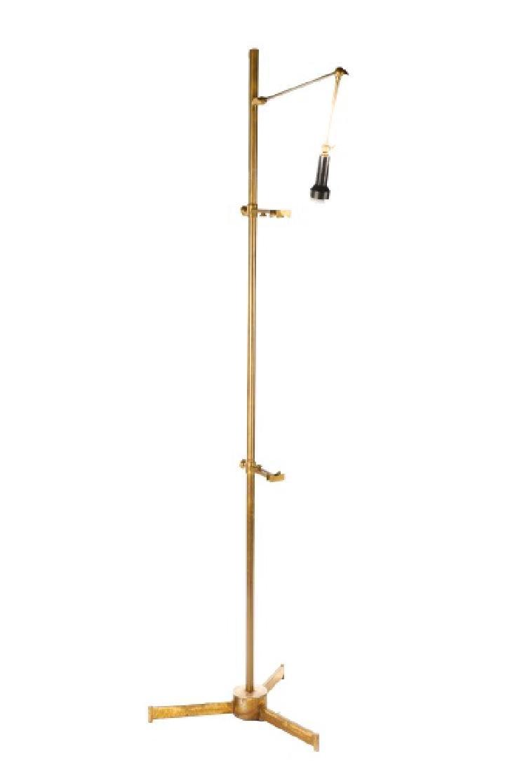 Angelo Lelli for Arredoluce Brass Easel Lamp - 4