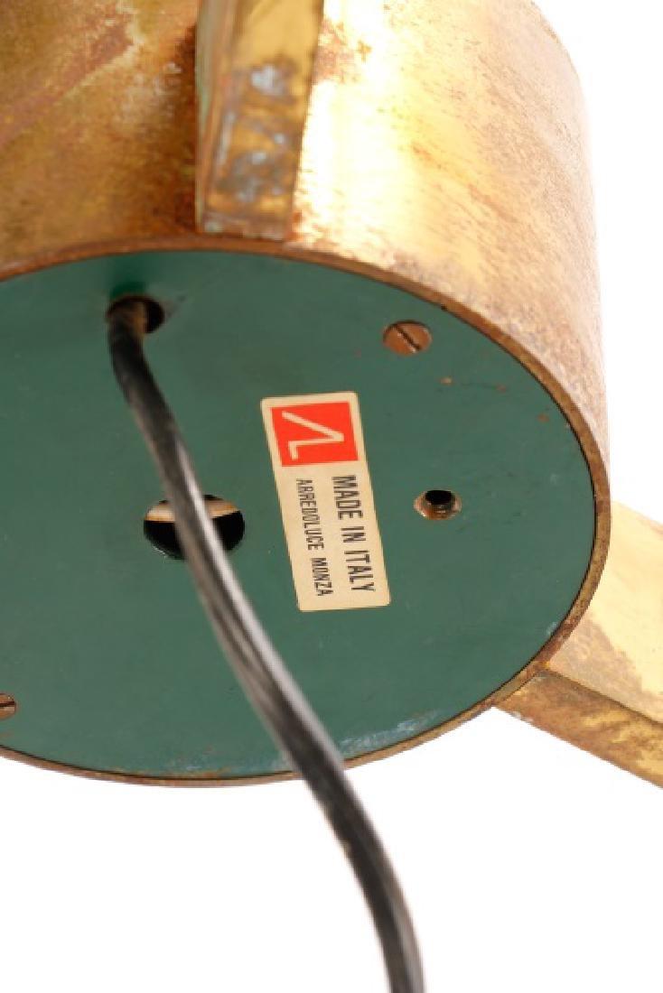 Angelo Lelli for Arredoluce Brass Easel Lamp - 5