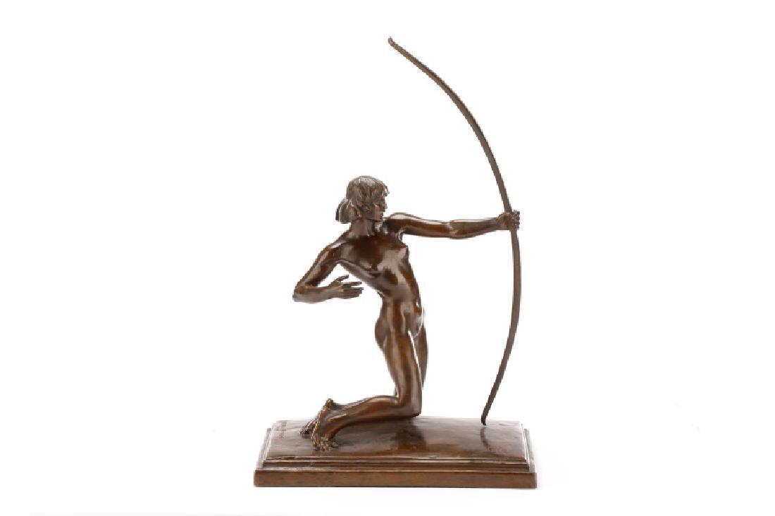 Brenda Putnam, Art Deco Female Nude Archer Bronze