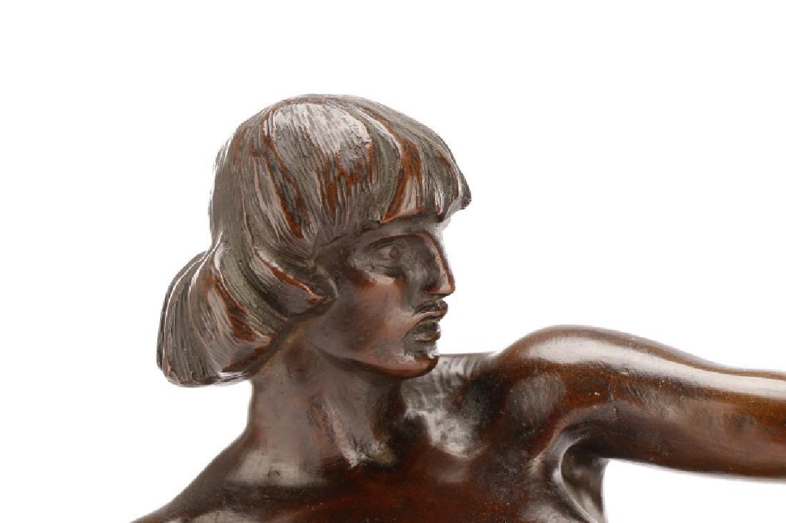 Brenda Putnam, Art Deco Female Nude Archer Bronze - 3