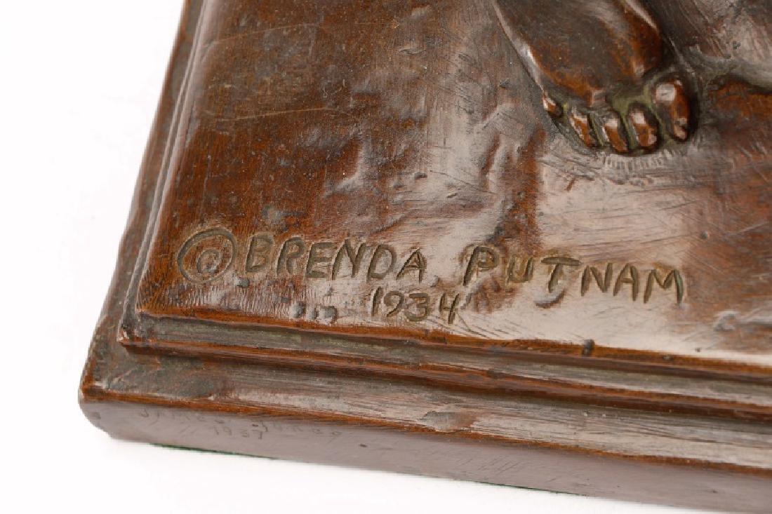 Brenda Putnam, Art Deco Female Nude Archer Bronze - 8