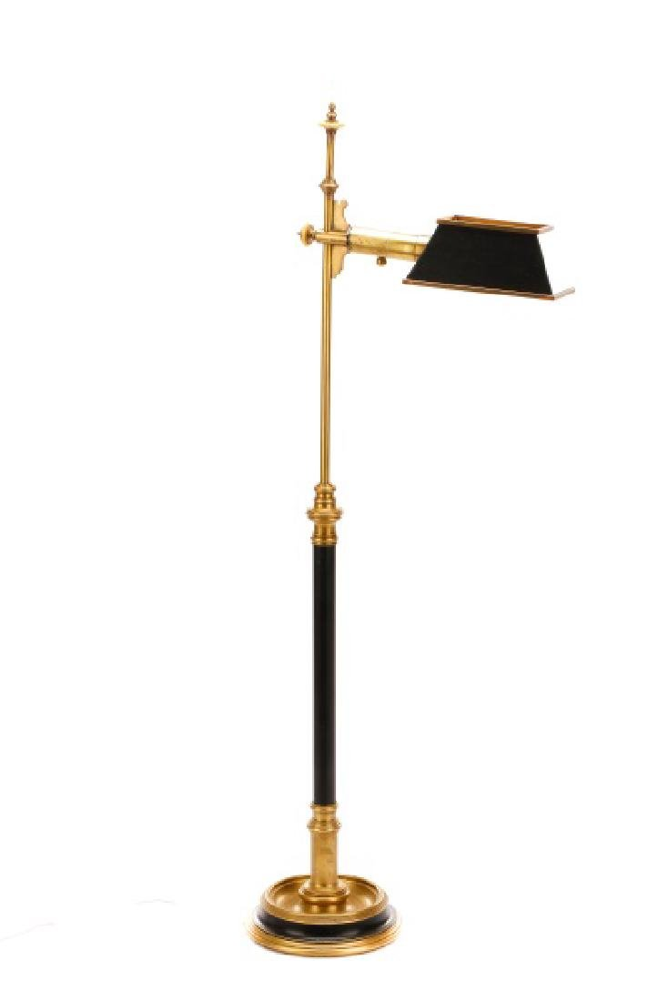 Chapman Ebonized Brass Reading Floor Lamp