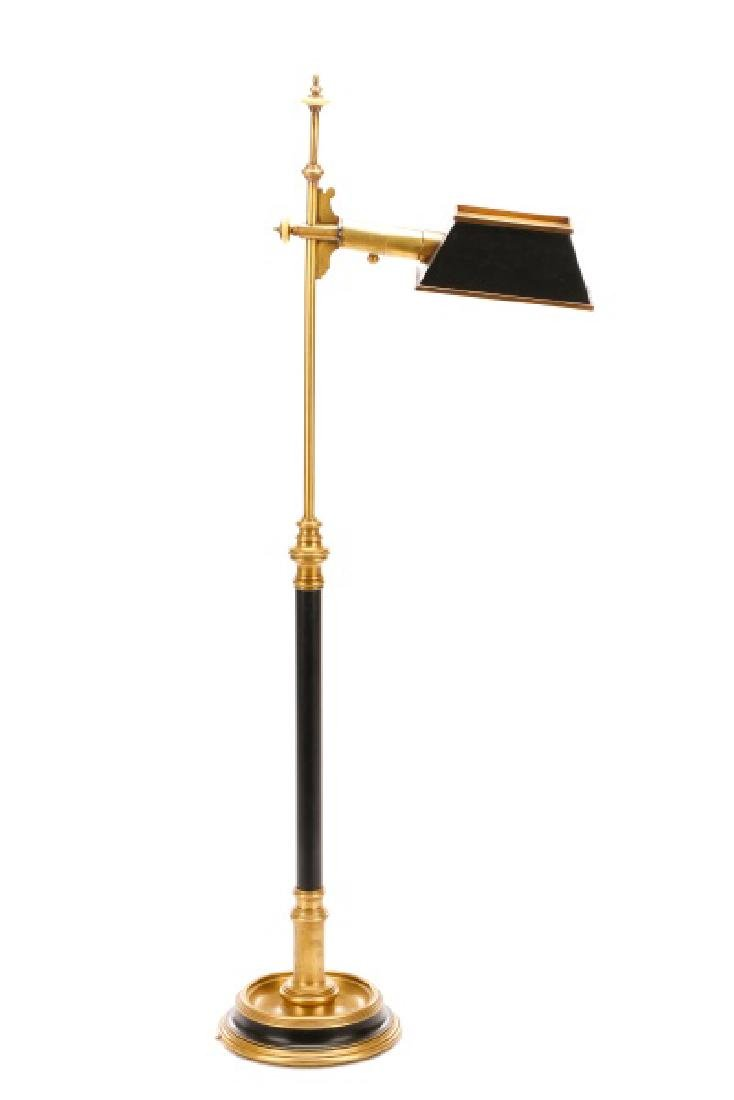 Chapman Ebonized Brass Reading Floor Lamp - 2