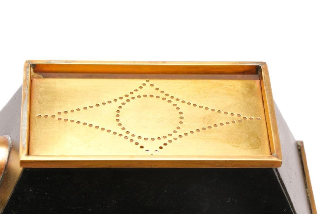 Chapman Ebonized Brass Reading Floor Lamp - 3